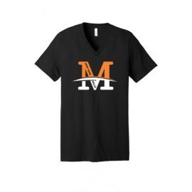 "BELLA+CANVAS ® Unisex Jersey Short Sleeve V-Neck Tee - ""M"" Logo"