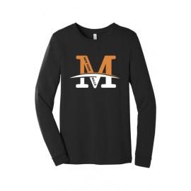 "Bella + Canvas Unisex Jersey Long-Sleeve T-Shirt - ""M"" Logo"