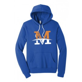 "BELLA+CANVAS ® Unisex  Fleece Pullover Hoodie - ""M"" Logo"
