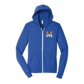 """BELLA+CANVAS ® Unisex Sponge Fleece Full-Zip Hoodie - """"M"""" Logo"""