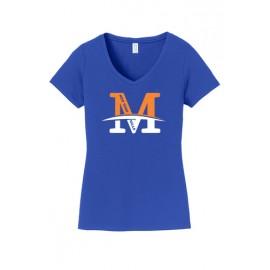 "Port & Company® Ladies Fan Favorite™ V-Neck Tee - ""M"" Logo"