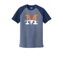 "New Era® Heritage Blend Varsity Tee - ""M"" Logo"