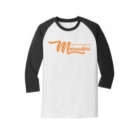 Port & Company® Core Blend 3/4-Sleeve Raglan Tee - Marauders Logo