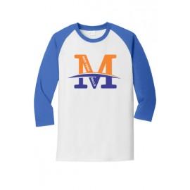 "Port & Company® Core Blend 3/4-Sleeve Raglan Tee - ""M"" Logo"