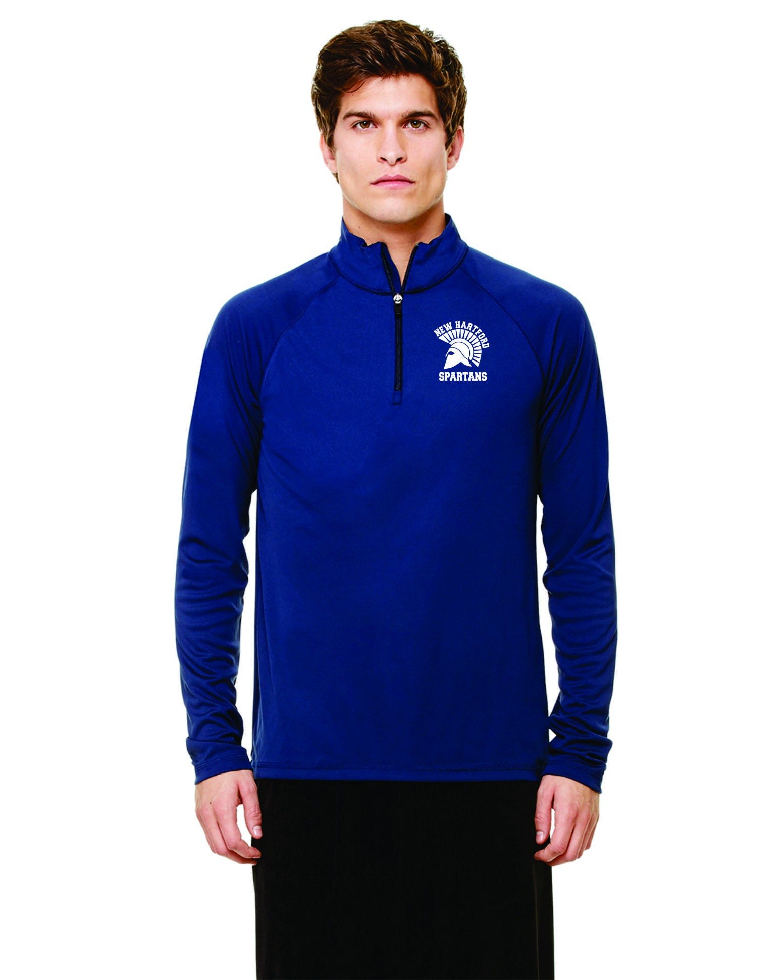 New Hartford Spartans Quarter Zip Lightweight Pullover