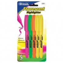Bazic Assorted Pocket Highlighters