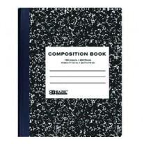 Bazic Black Marble Comp Books- College Rule