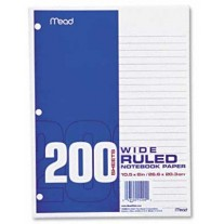 Max's Basic 200Ct Filler Paper - Wide Rule