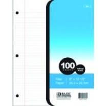 Bazic 100Ct Filler Paper - College Rule