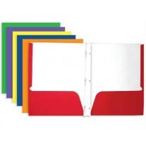 Bazic Pocket & Prong Paper Folders