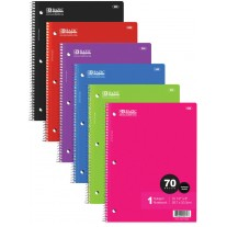 Bazic 70Ct College Rule Notebooks