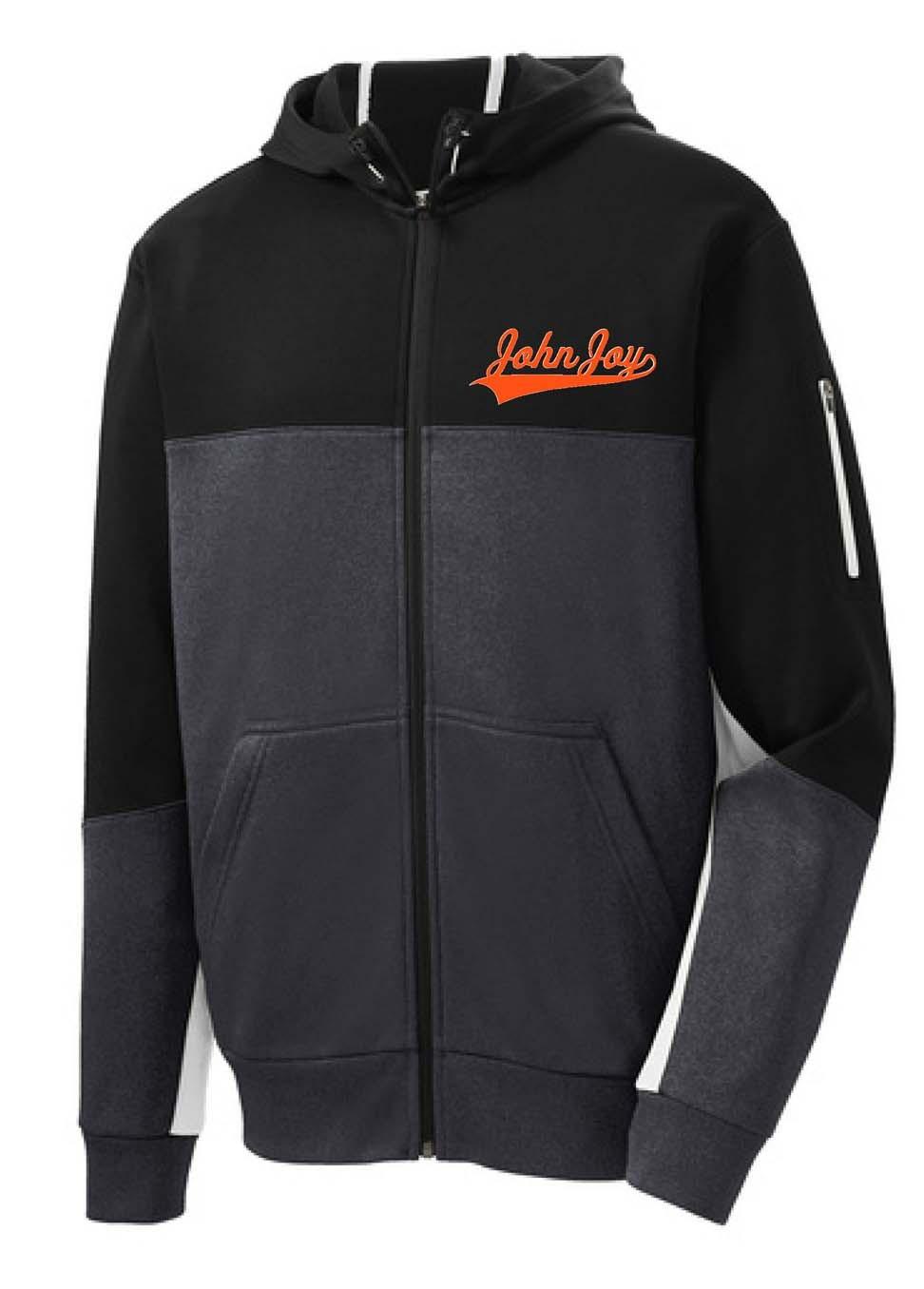 John Joy Swoosh Men's Sport-Tek Colorblock Full Zip Hooded Jacket