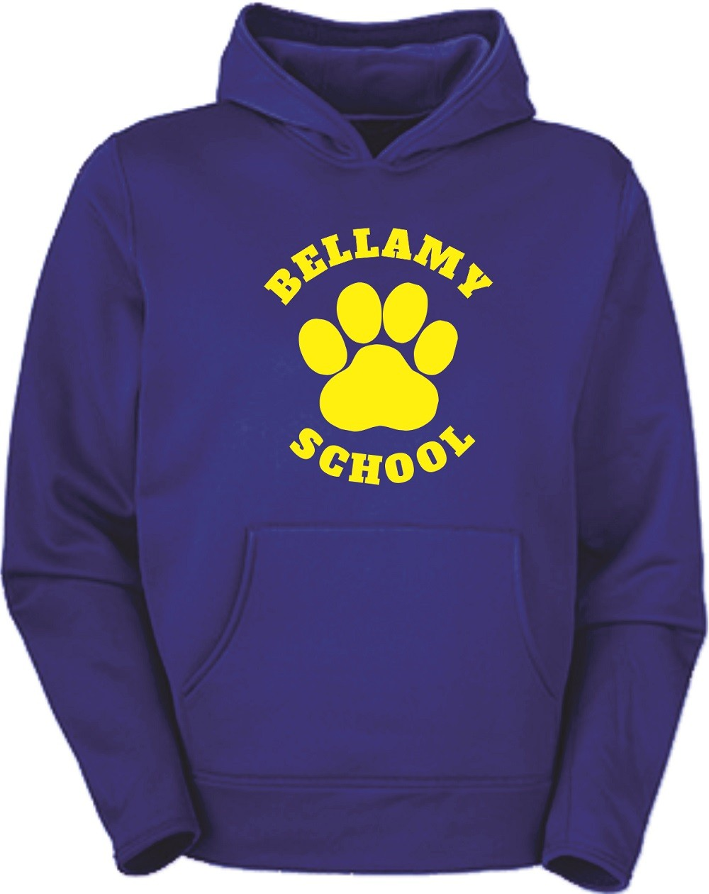 Bellamy Paw Print Pullover Hoodies