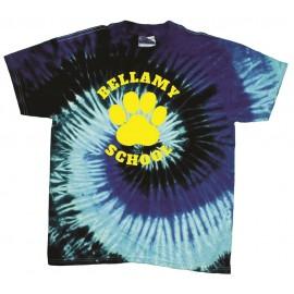 Bellamy Paw Print Tye Dye T-Shirts