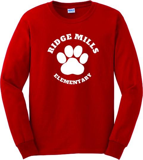 Ridge Mills Paw Long Sleeve Tee