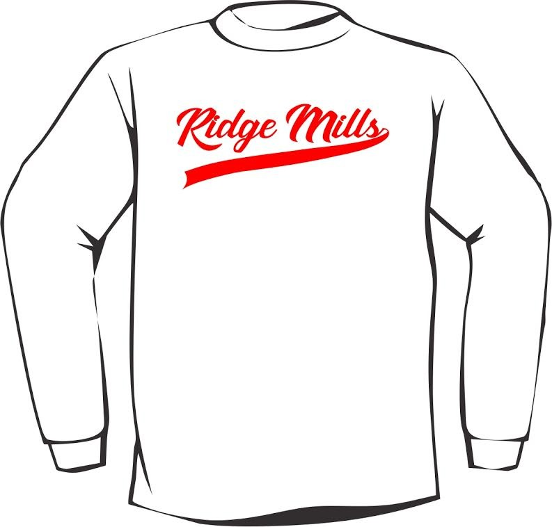 Ridge Mills Swoosh Long Sleeve Tee