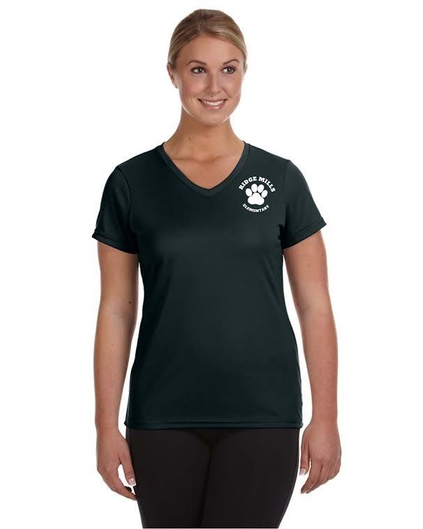 Ridge Mills Ladies Moisture Wicking V Neck T-Shirt