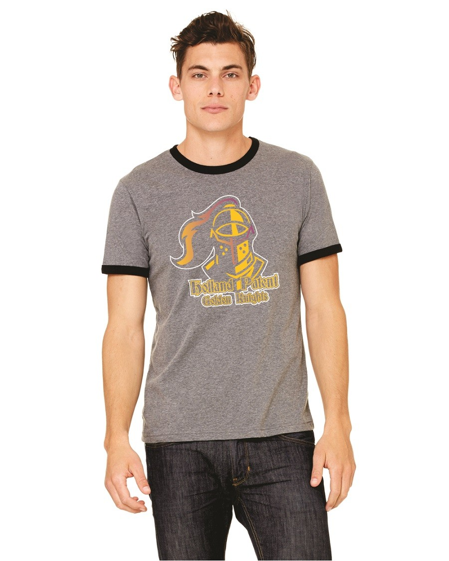 Holland Patent Golden Knights Bella + Canvas Ringer Tees