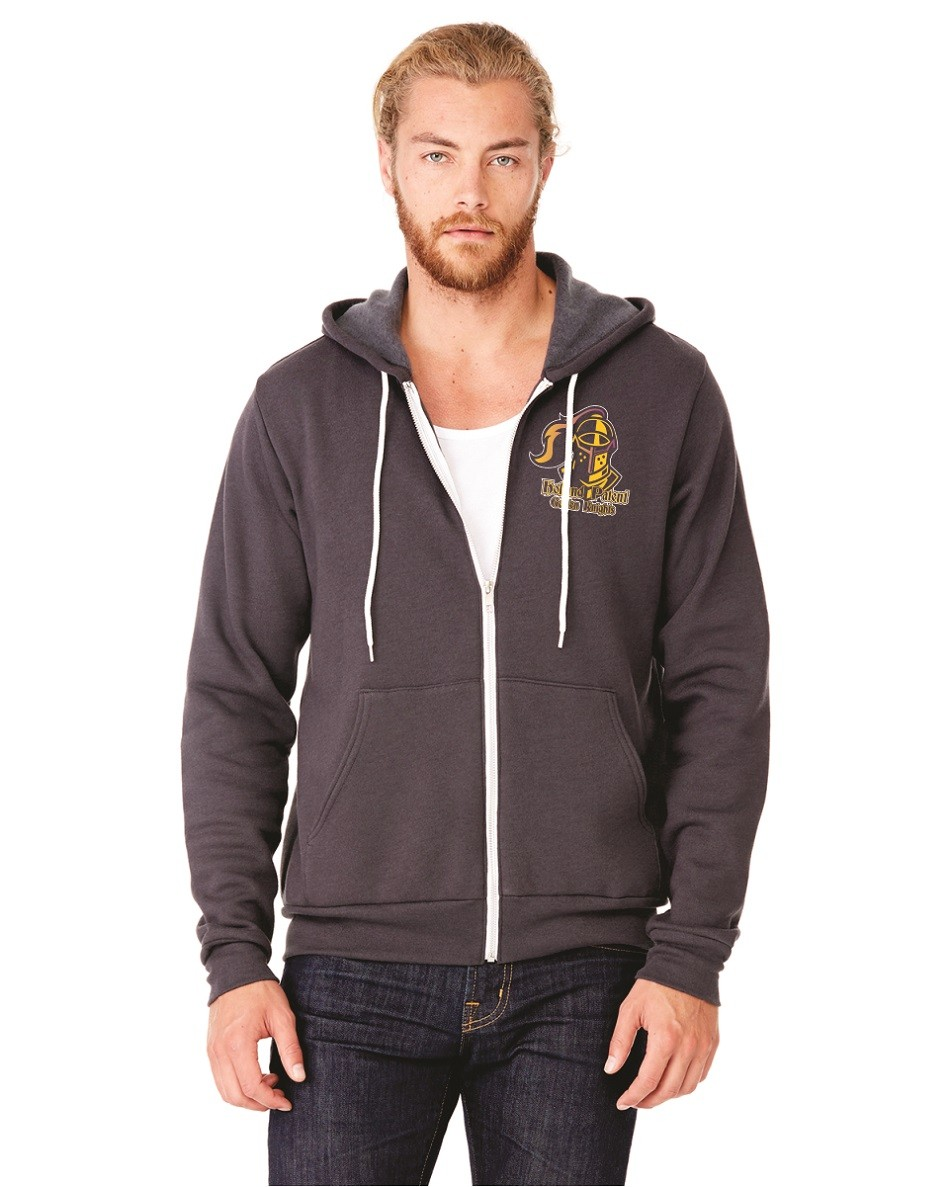 Holland Patent Golden Knights Bella + Canvas Zip Up Hoodie