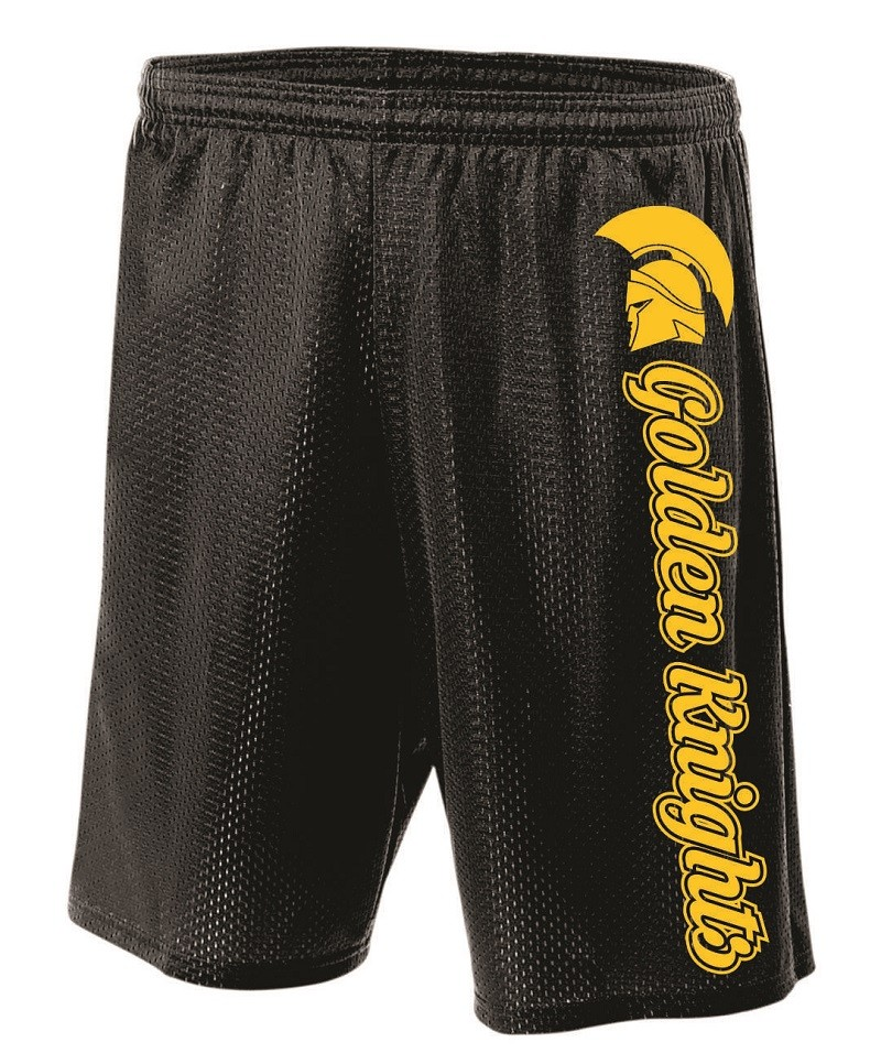 Holland Patent Golden Knights Mesh Shorts