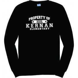 Property Of Kernan Elem. Long Sleeve Tee