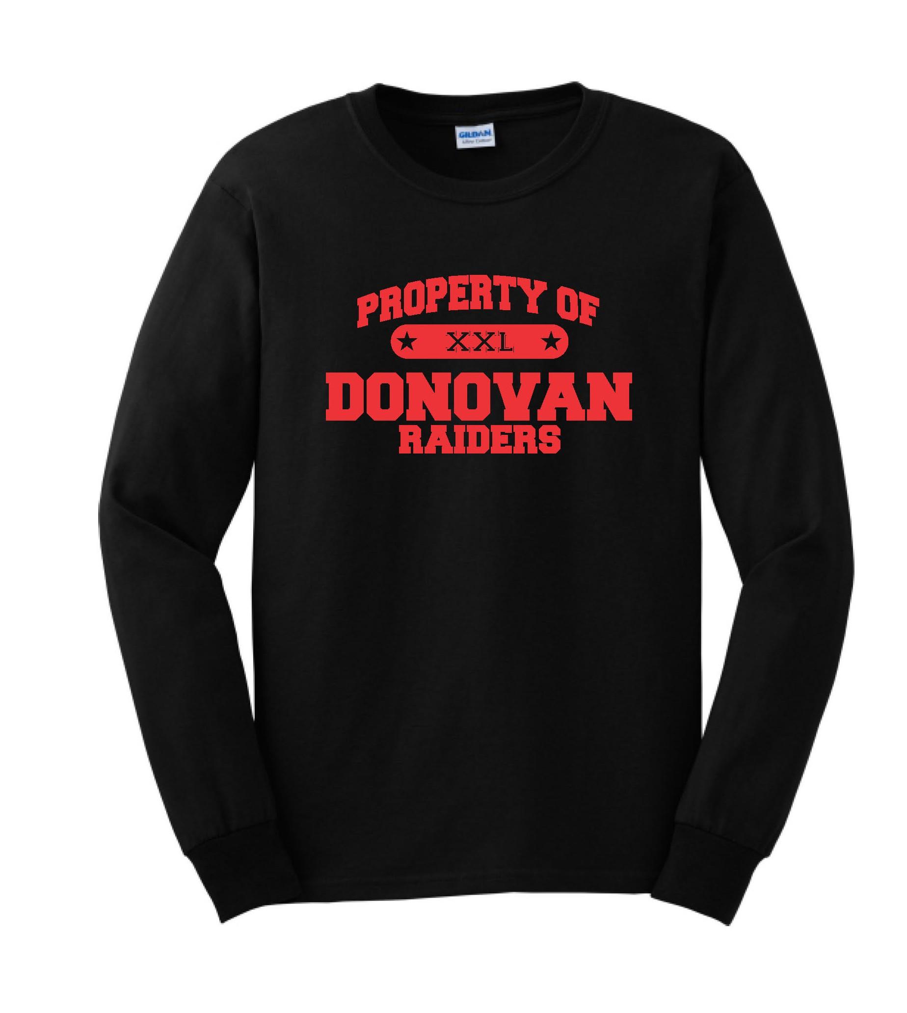 Property Of Donovan Bella Canvas Long Sleeve Tee