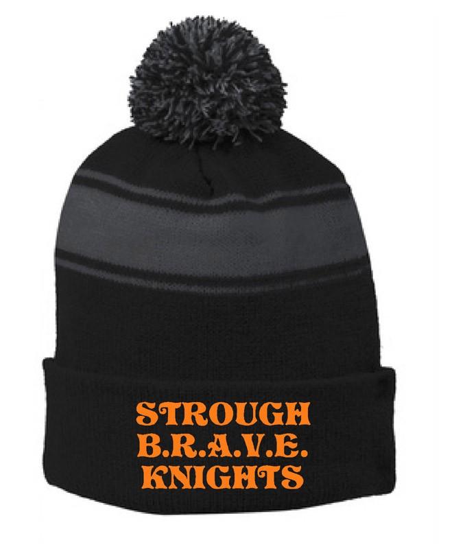 B.R.A.V.E. Knights Sport Tek Pom Pom Beanie