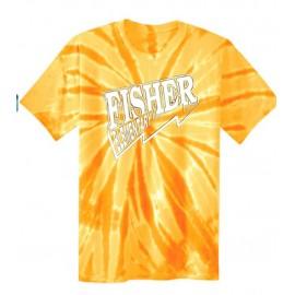Fisher Elementary Lightning Tye Dye Tee