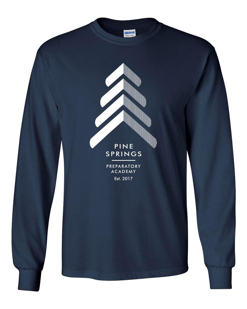 Pine Springs 100% Cotton Pre-Shrunk Long Sleeve Tees