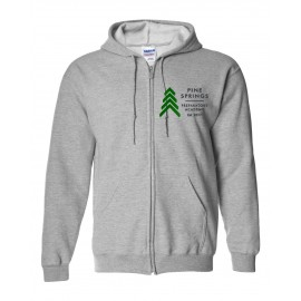Pine Springs 50/50 Poly/Cotton Mix Zip Up Embroidered Hoodies
