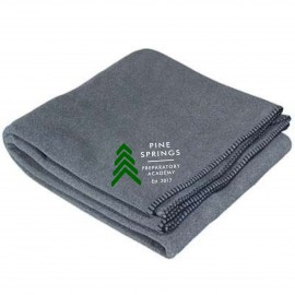 Pine Springs Embroidered Fleece Blankets