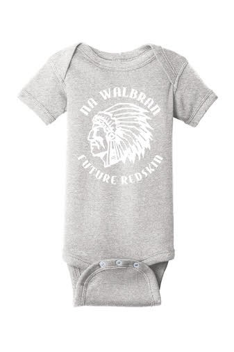 Rabbit Skins Infant Baby Rib Bodysuit - Future Pioneer Logo