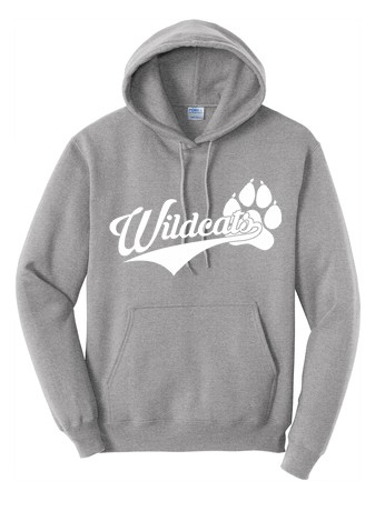 BELLA+CANVAS ® Unisex  Fleece Pullover Hoodie - Wildcats Logo