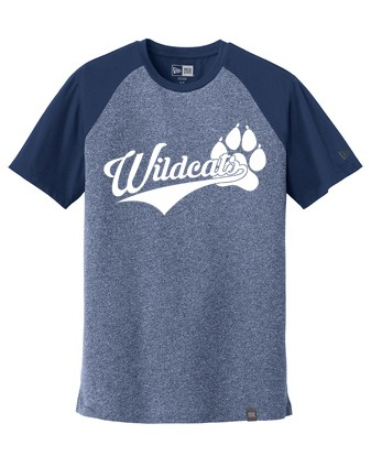 New Era® Heritage Blend Varsity Tee - Wildcats Logo