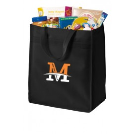 "Port Authority® Standard Polypropylene Grocery Tote - ""M"" Logo"