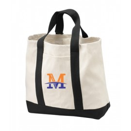 "Port Authority® - Two-Tone Shopping Tote - ""M"" Logo"