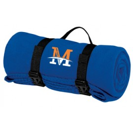 "Port Authority® - Value Fleece Blanket with Strap - ""M"" Logo"