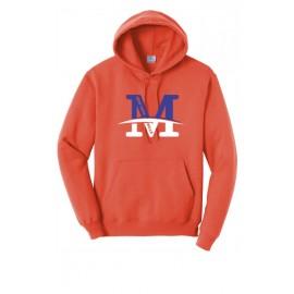 "Port & Company® - Core Fleece Pullover Hooded Sweatshirt - ""M"" Logo"