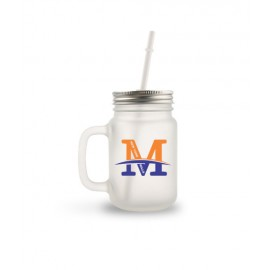 NY Mills Mason Jar With Straw